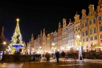 Gdańsk's Long Market decorated for Christmas.