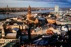Riga's Old Town and the Daugava River.
