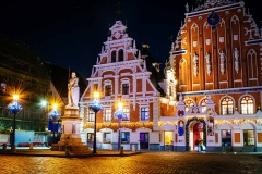 The Town Hall Square of Riga.