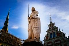 Riga's statue of Roland.