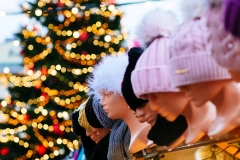 Hats for sale at Tallinn's Christmas Market in the Town Hall Square.