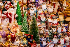 Goods for sale at Tallinn's Christmas Market in the Town Hall Square.