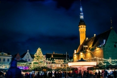 Tallinn's Christmas Market in the Town Hall Square.