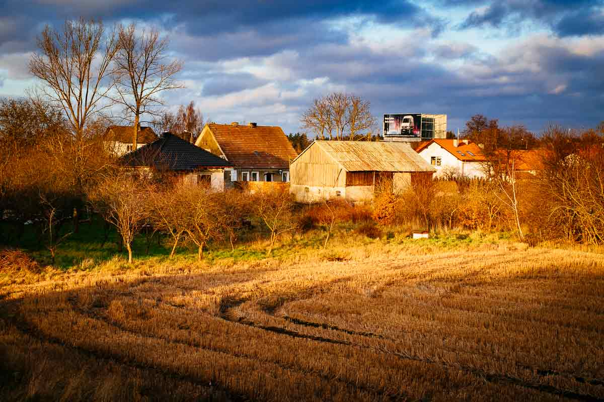Field and farmhouses