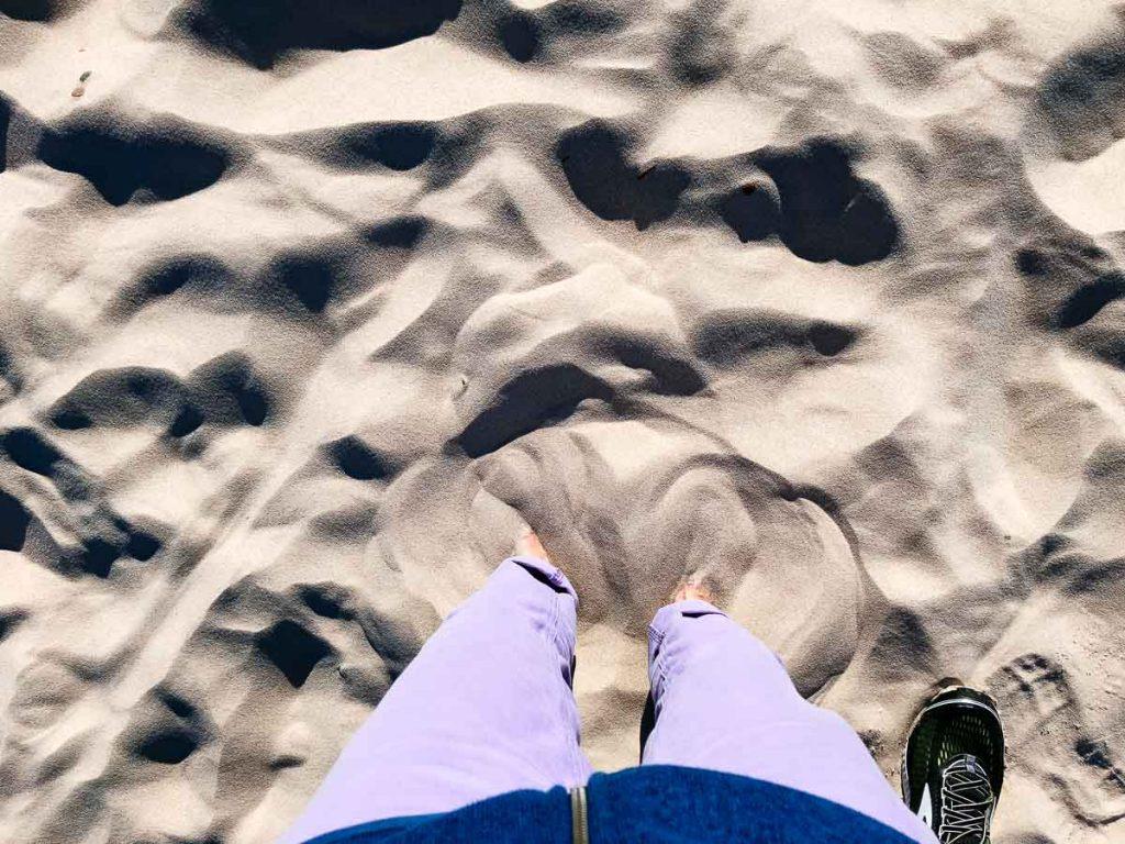 feet in sand Łeba