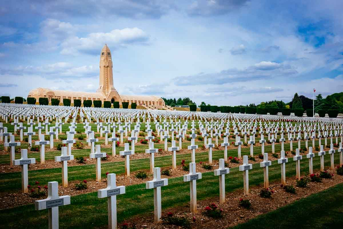 The Douaumont Ossuary and graveyard