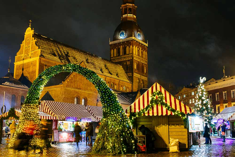 Christmas Market in Riga Latvia